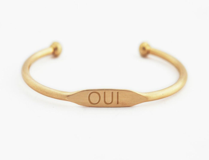 bracelet / brass WORDS cuffs