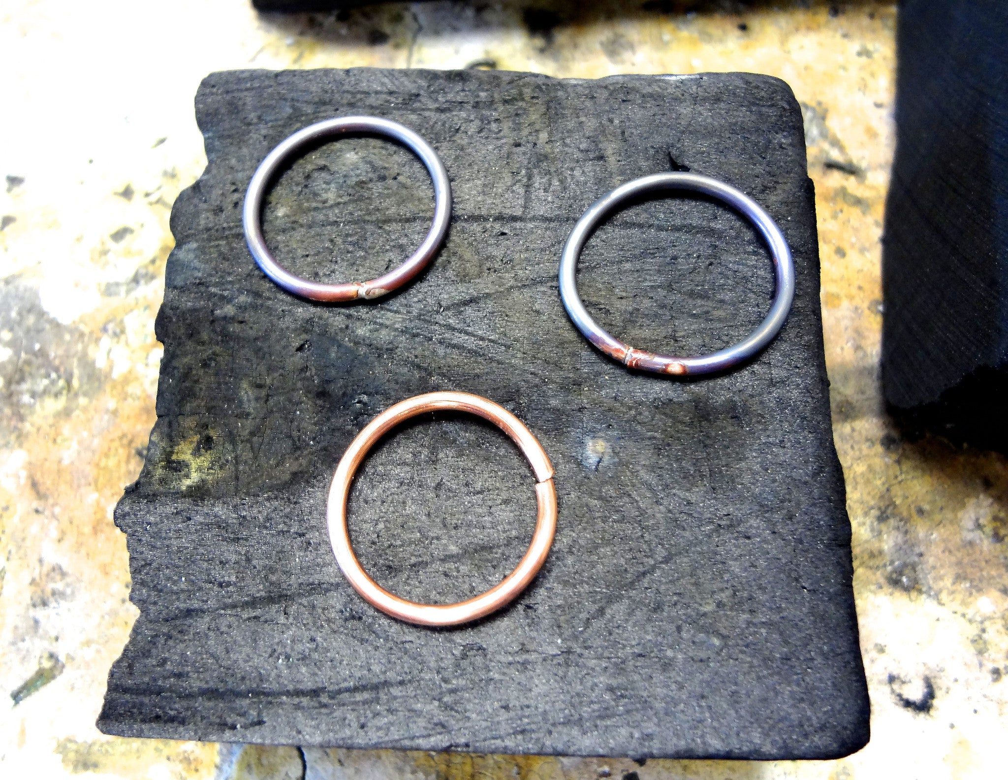 workshop / intro to working with metals + making stack rings