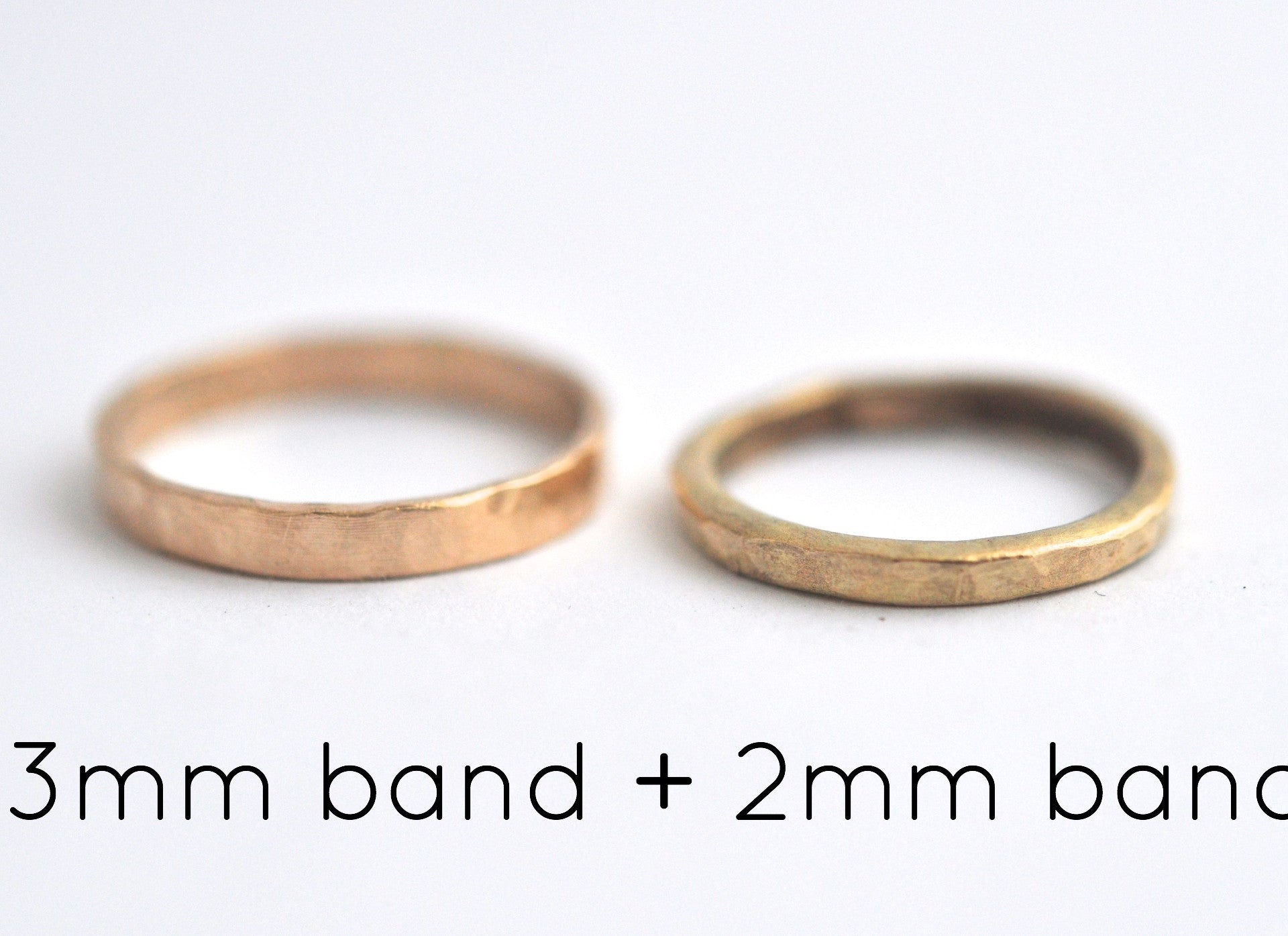 ring / band 3MM HAMMERED
