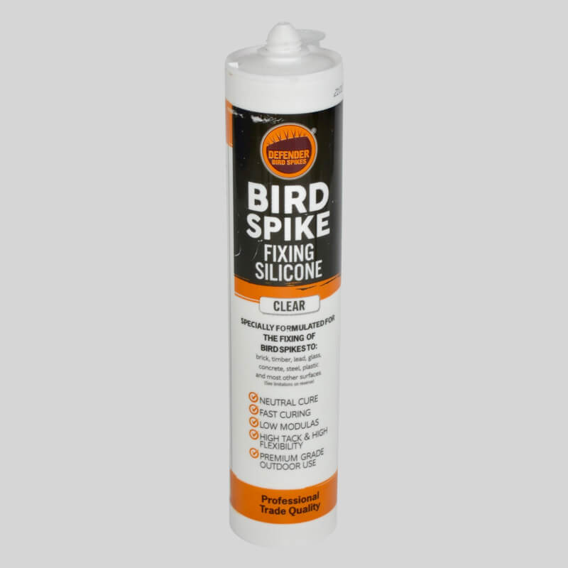 Silicone to fix bird spikes