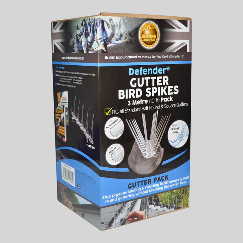 Defender Gutter Bird Spikes Pack