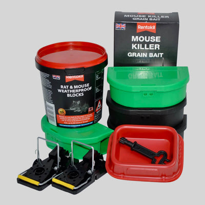 Mouse poison and traps in an easy to use kit