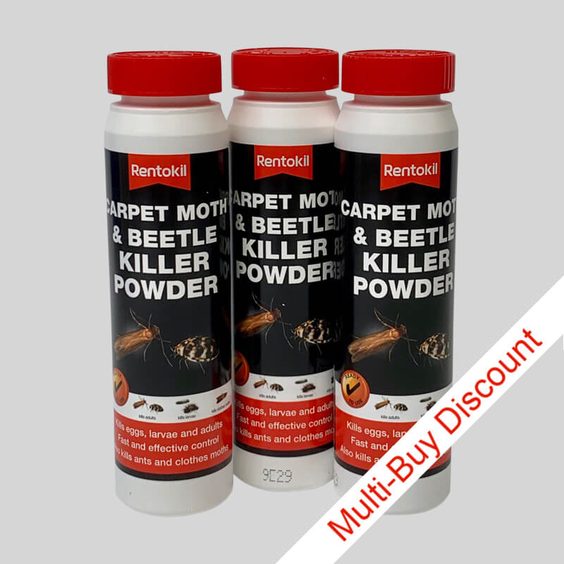 Rentokil Carpet Moth and Beetle Killer Powder
