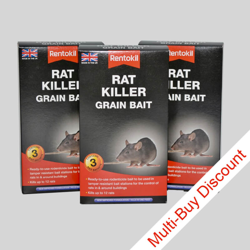 Rentokil Rat Killer Grain Bait 150g