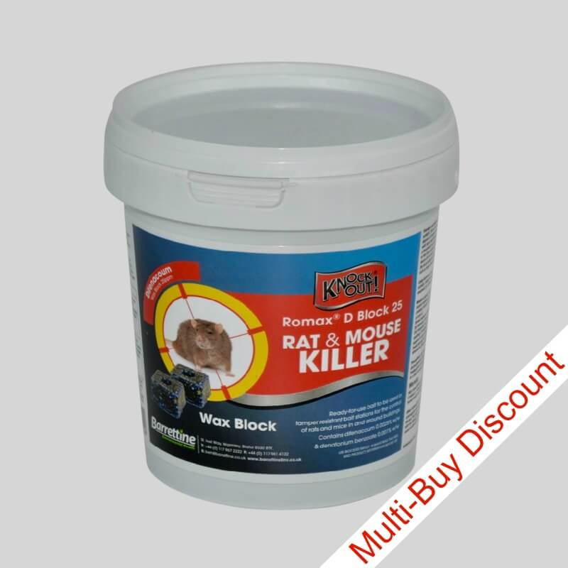 Romax D Block Rat and Mouse Killer