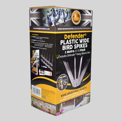 Wide Plastic Bird Spikes in a easy to use pack