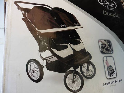 New BABY JOGGER CITY double buggy in black