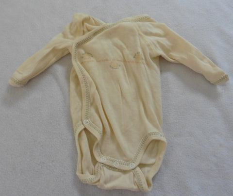 PETIT BATEAU french designer yellow wrap body vest preemie