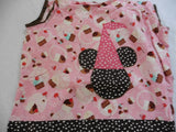 Unique Disney & cupcake bibbon dress 4-5y