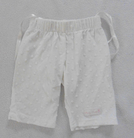 new LITTLE DARLINGS baby girls newborn white trousers