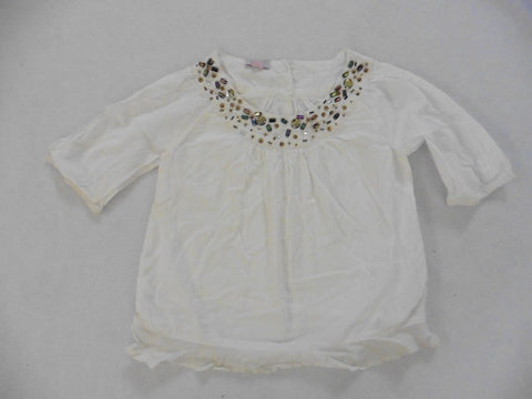 MONSOON white swing top 3-4y