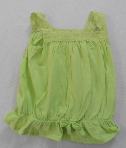 Pretty green baby girls sun top 9-12m