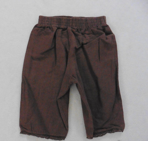 MINISU designer brown linen trousers 12m as long shorts or 6m as trousers