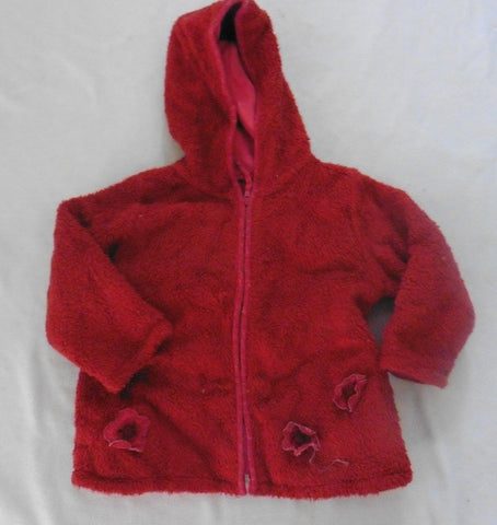 PAMPOLINA girls burgundy fleece jacket 18m to 2.5y