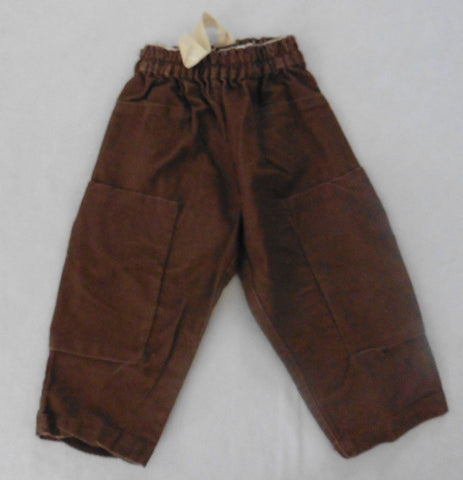 New MAX & LOLA brown designer trousers 18m-3y