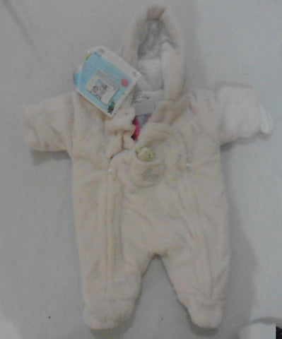 New SUCRE D'ORGE french designer fluffy pink first size snowsuit