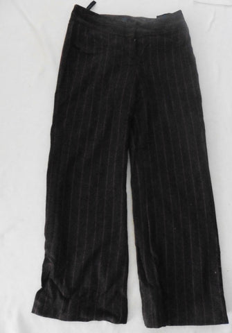 new BODEN brown striped wool trousers 10R more like 12l