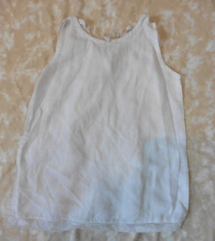 SIMPLE KIDS white linen dress 2y