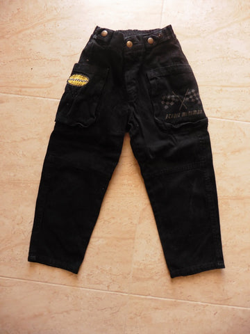 MINIMAN racing car black jeans 4y
