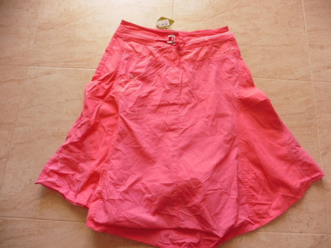 New OILILY pink ladies cotton skirt 34 uk8