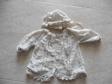New reborn cardigan and hat set 3m