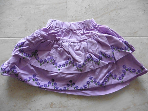 New handmade purple skirt 1-2y