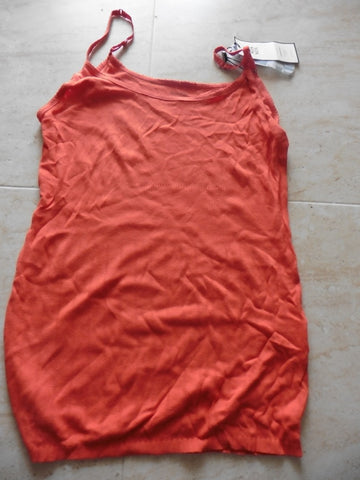 New NOA NOA ladies orange vest top XL 16UK