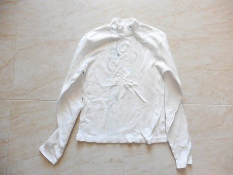 New MIRTILLO off white girls top 12y suit 10y