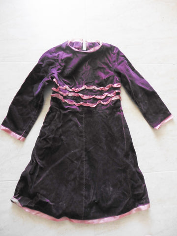 New HAKKA KIDS purple cord dress approx 7y