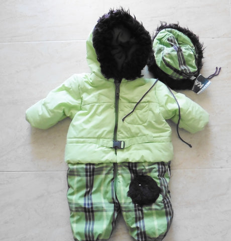 New KANZ warm snowsuit and hat set 6m