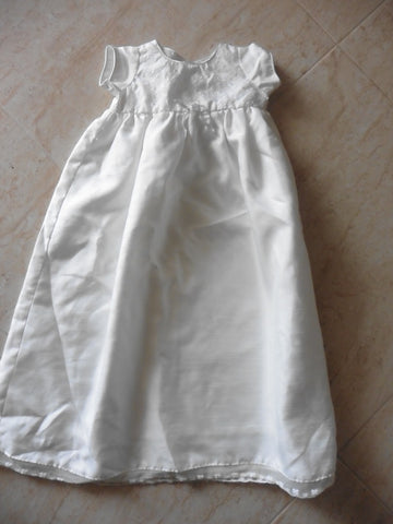 Newborn ivory christening gown