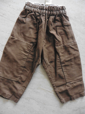 New MAX & LOLA boy's brown trousers 18-24m