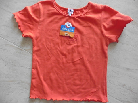 New ABSORBA orange designer t shirt suit 8y
