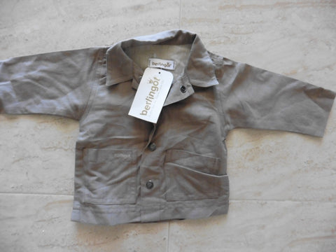 New BERLINGOT brown linen jacket 3m