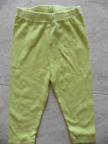 NEXT lime green ribbed leggings 12-18m but large
