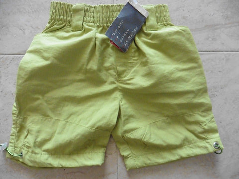 NEW CONFETTI french designer lime green shorts 6-12m