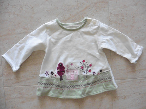 MOTHERCARE girl's pretty top 3-6m - large