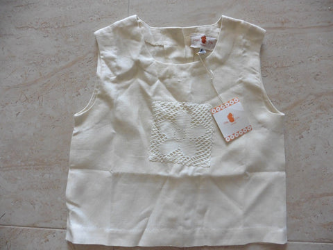 New MILKI SILKI cream linen top 8y