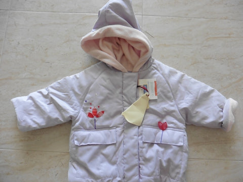 New MARESE girl's lilac coat 6-12m