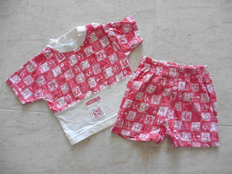 TON SUR TON designer boys t shirt and shorts set 6m