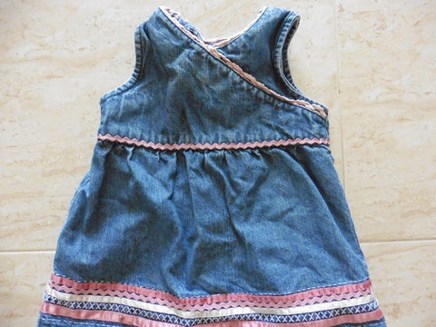 ROCHA LITTLE ROCHA denim dress 3-6m