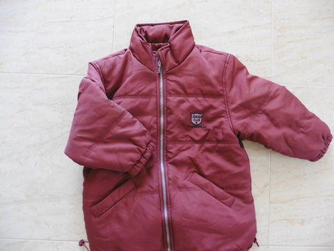 New MAYORAL burgundy boy's coat 5-6y