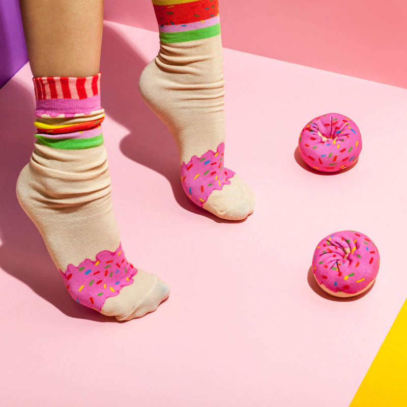 Doughnut Socks Strawberry