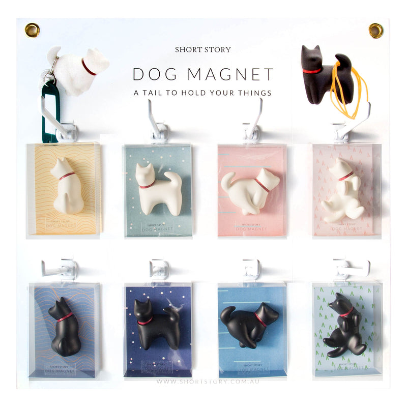 Dog Magnet Playful White
