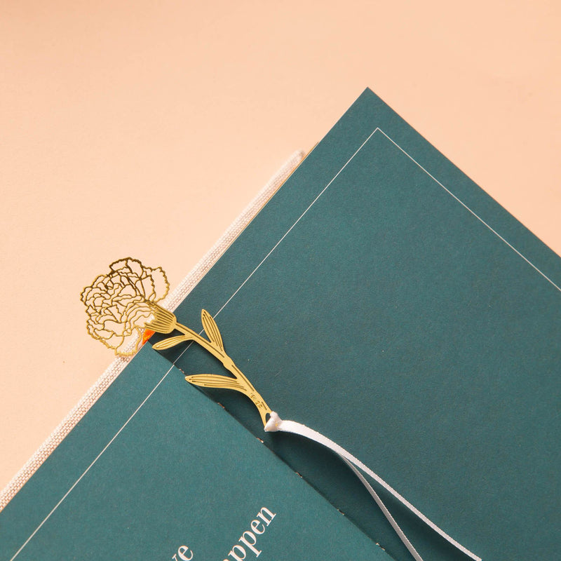 Gold Bookmarks Floral and Fauna Flower