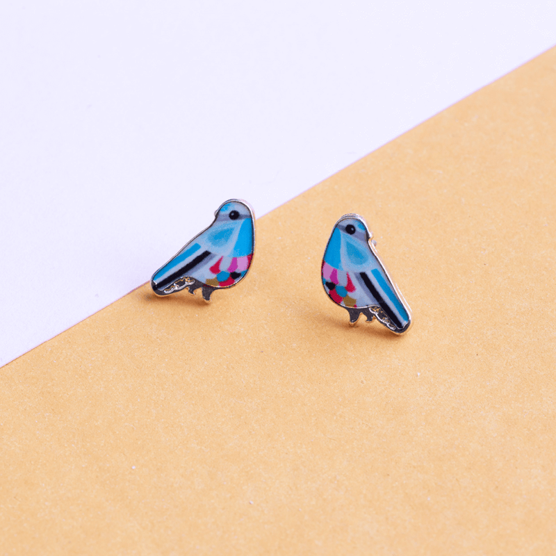 Earring Bird Blue