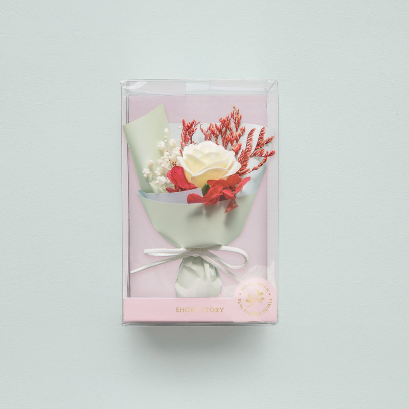 Mini Floral Bouquet Box Light Blue