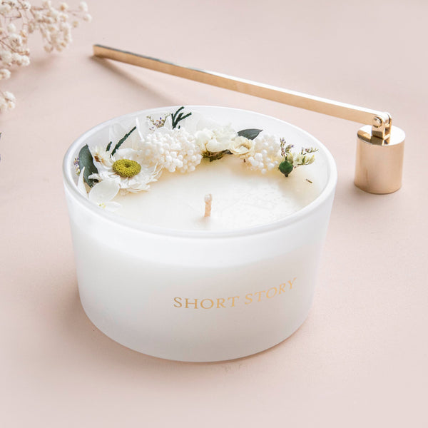 Floral Candle Coconut Lime