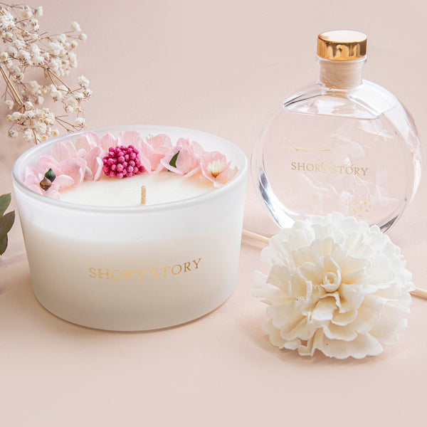 Floral Candle Peonies