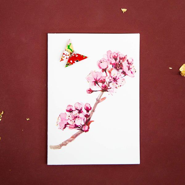 Card Blossom Branch Pink
